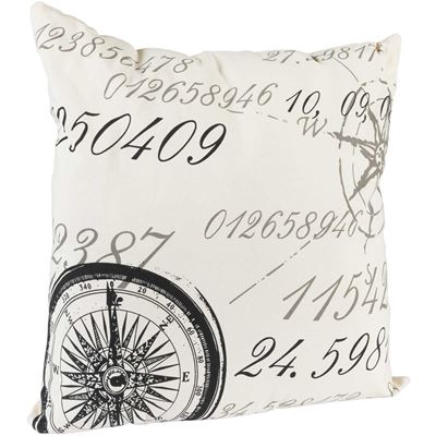 Picture of 20x20 Compass Script Decorative Pillow *P