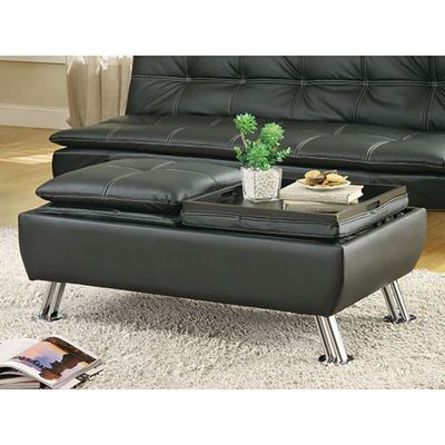 Picture of Black Storage Ottoman *D
