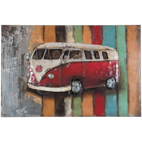 Picture of Metal Peace Bus Wall Decor
