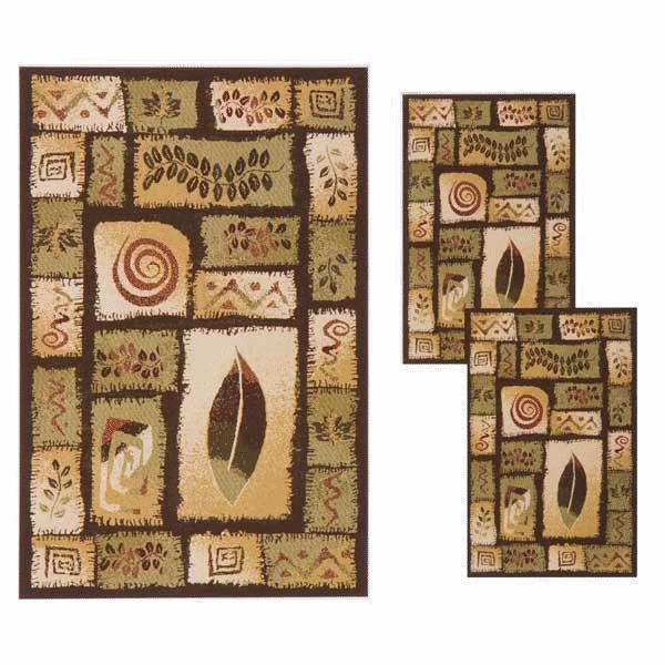 Picture of Stratford Leaf 3 Piece Rug Set