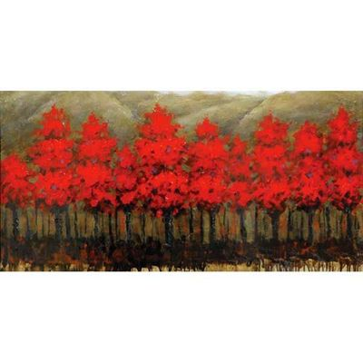 Picture of Red Trees Aligned Canvas Wall
