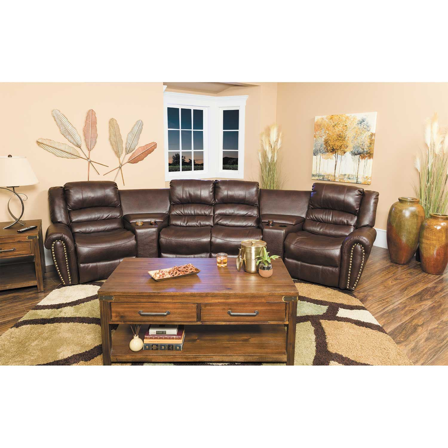 Picture of 5 Piece Gliding Reclining Sectional