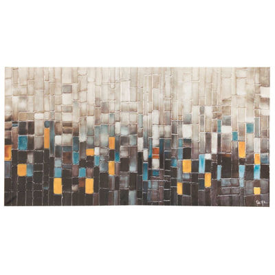 Picture of Cool Squares Abstract 30x60 Canvas
