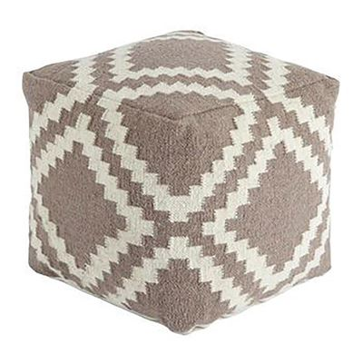 Picture of Jigsaw Gray Geometric Pouf *D