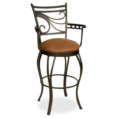 "Picture of Glow 24"" Arm Barstool"