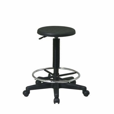 Picture of Black Stool W/ Adjustable Footrest *D