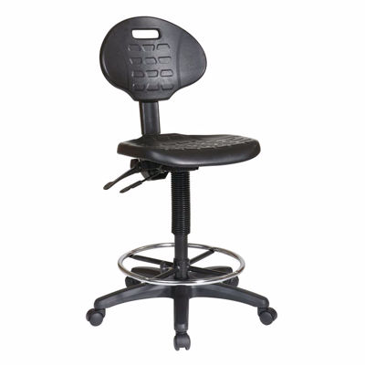 Picture of Black Egronomic Intermediate Drafting Chair *D