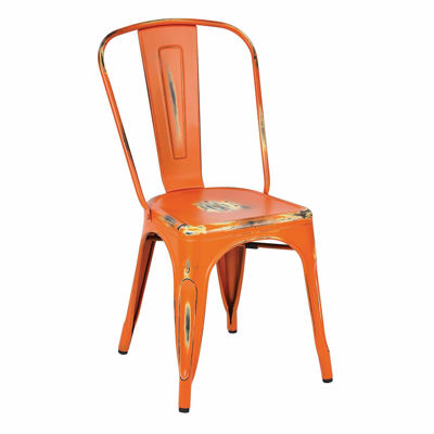 Picture of Bristow Orange Armless Chair, 4-Pack *D