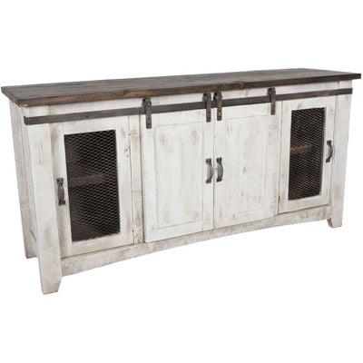 """Picture of Pueblo 70"""" Barn Door TV Stand"""