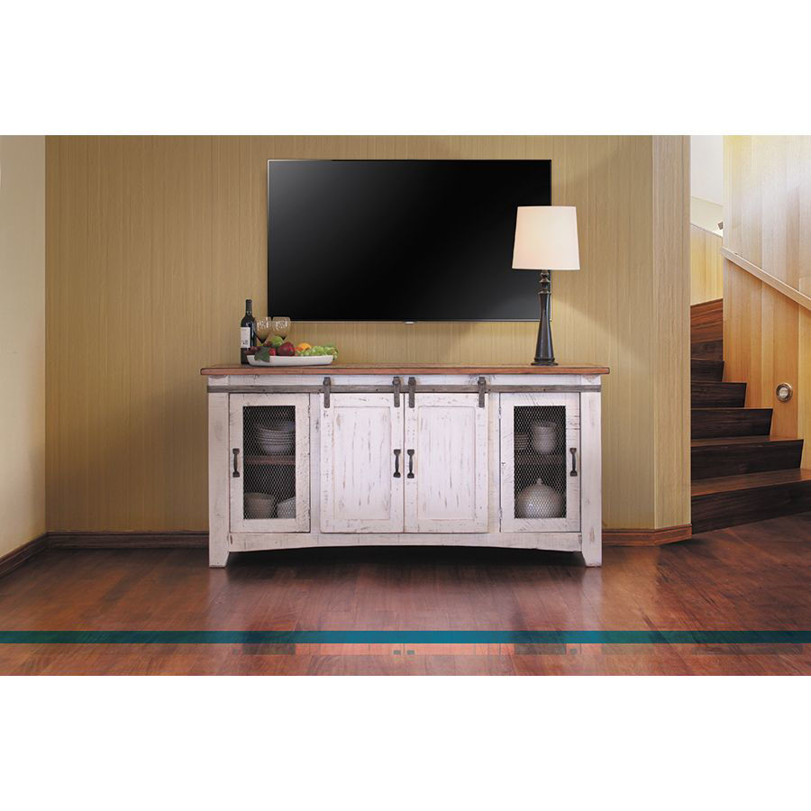 "Picture of Pueblo 70"" Barn Door TV Stand"