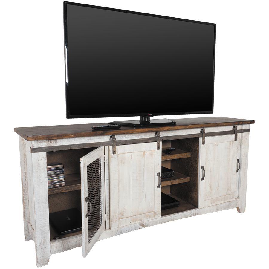 """Picture of Pueblo 80"""" Barn Door TV Stand"""