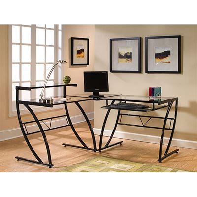 Picture of Belaire Glass L Desk