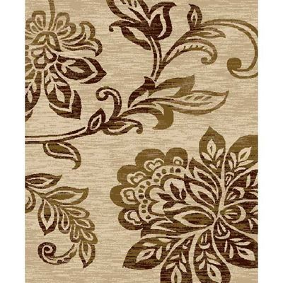 Picture of Floral Vine Easy Clean Rug