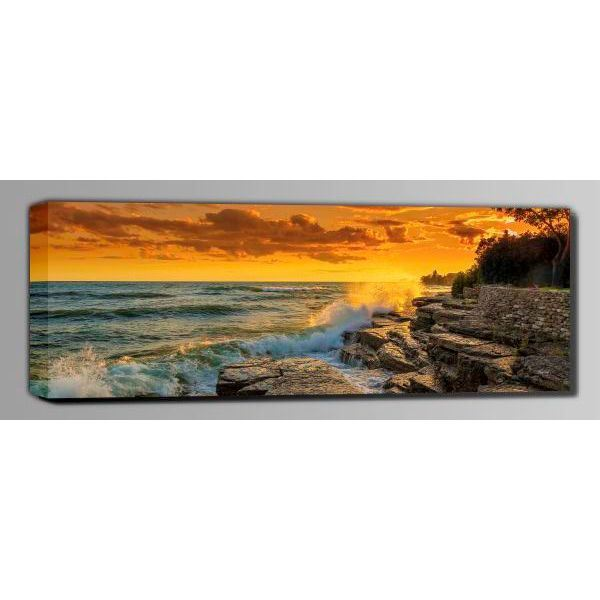 Picture of Stormy Sunset Over Lake Ontario 60x20 *D