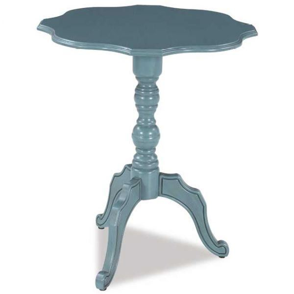 Picture of Blue Scalloped Table