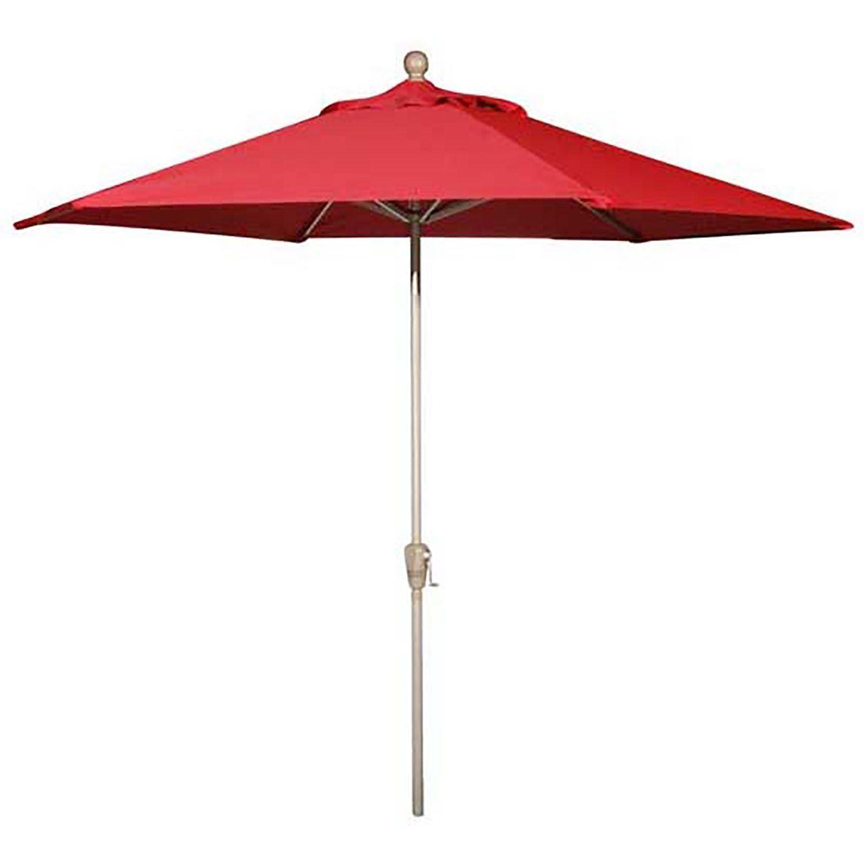 9 Umbrella Push Tilt Really Red