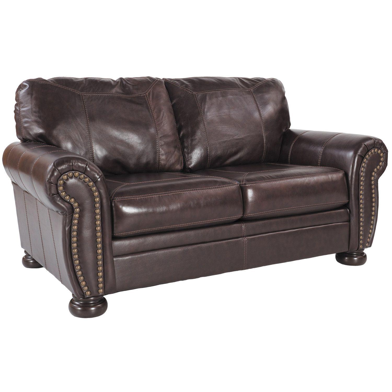 Terrific Banner Leather Loveseat Short Links Chair Design For Home Short Linksinfo