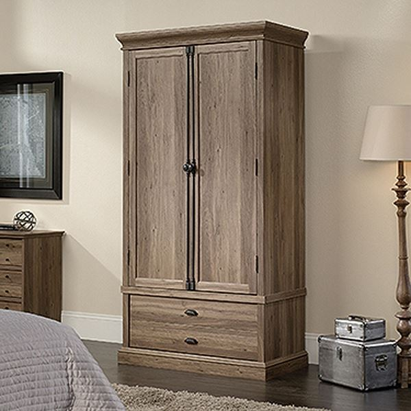 Picture of Barrister Lane Bedroom Armoire Salt Oak * D