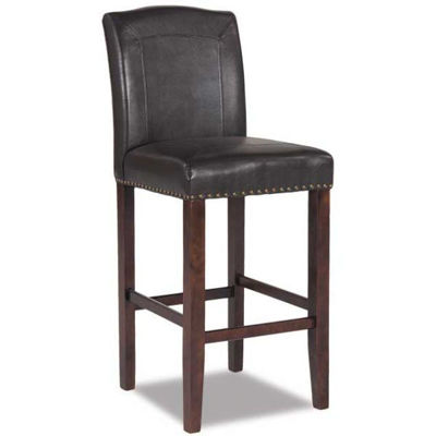 """Picture of 30"""" Brown Faux Leather Barstool"""