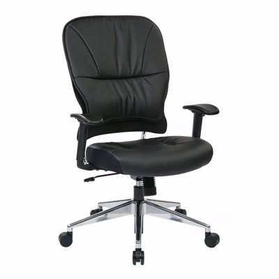 Picture of Black Bonded Leather Off Chair 32-E33P918P *D