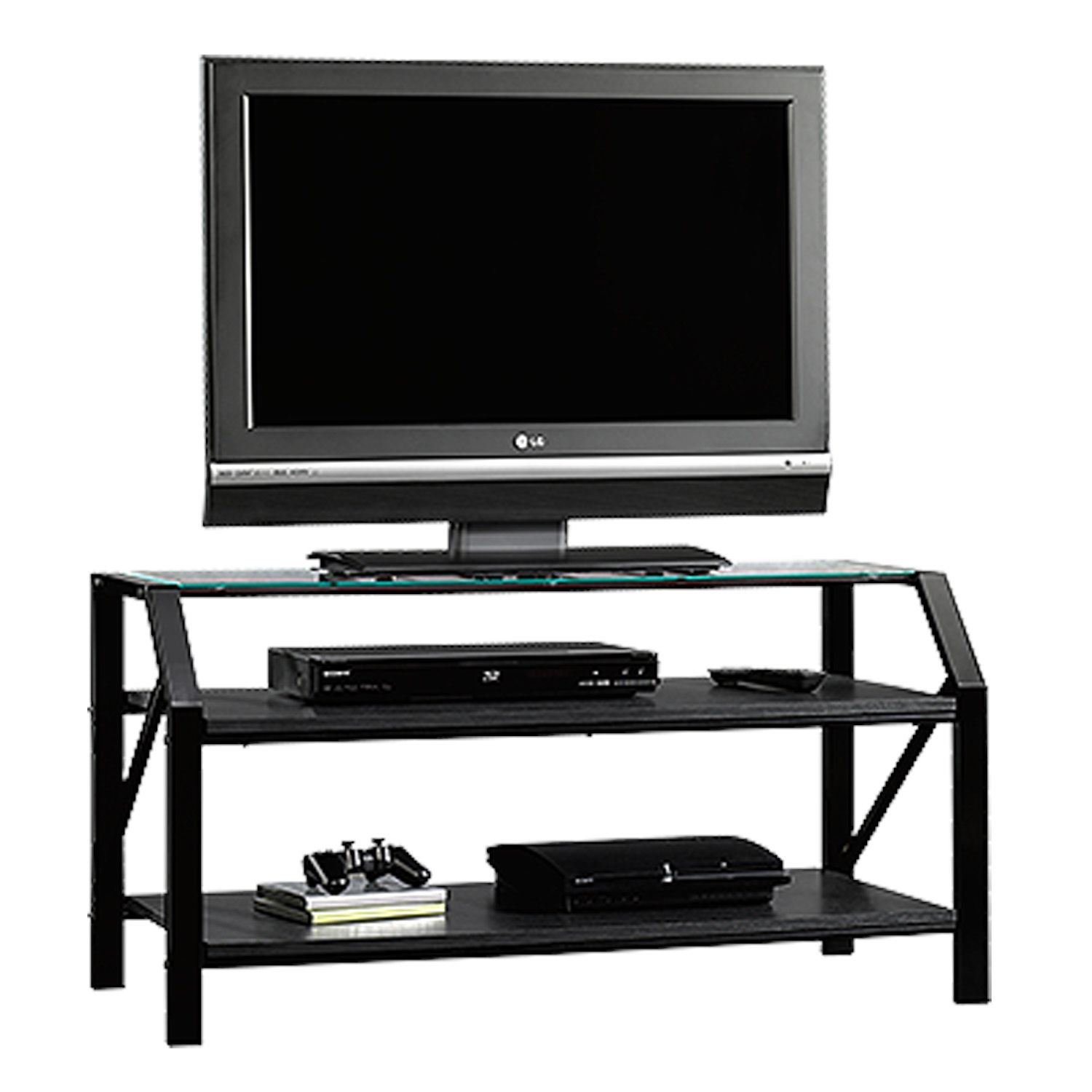 Picture of Beginnings Panel Tv Stand Black/Clear