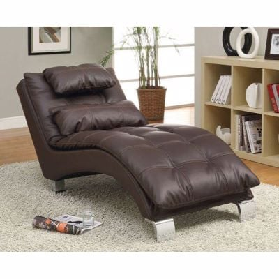 Picture of Dark Brown Chaise *D