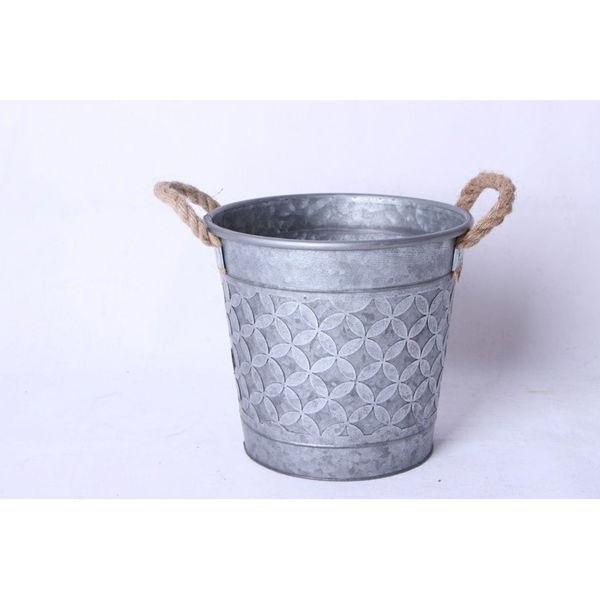 Picture of Medium Metal Bucket with Rope Handles
