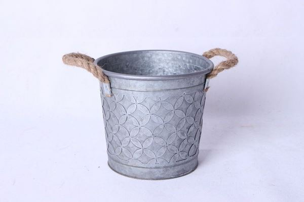 Picture of Small Metal Bucket with Rope Handles