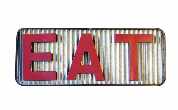 """Picture of Metal """"Eat"""" Sign"""