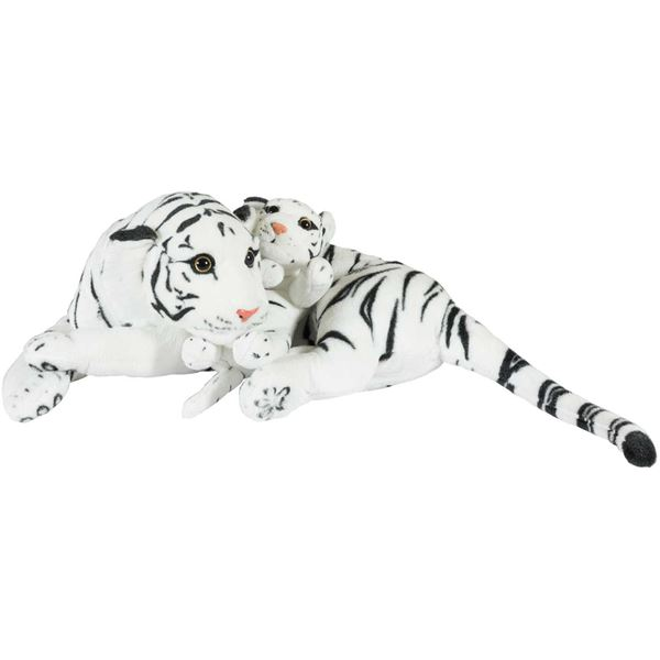 """Picture of 24"""" White Tiger with Baby"""