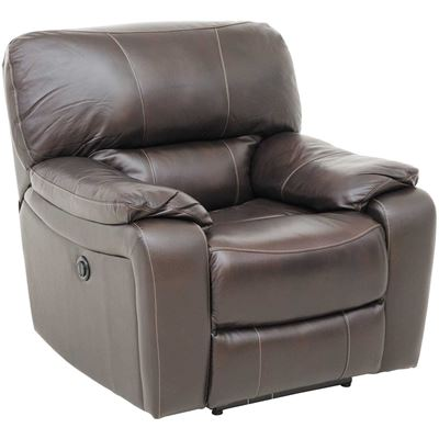 Picture of Wade Brown Top Grain Leather Rocker Recliner