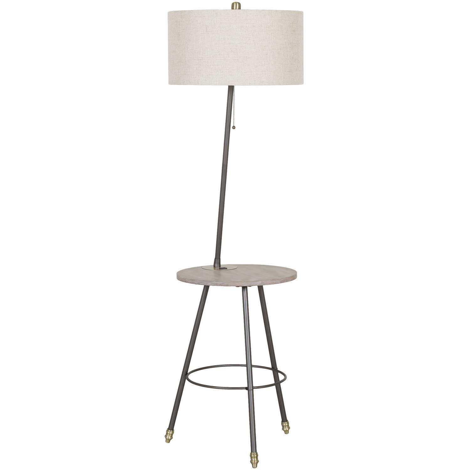 Picture of Iron floor lamp with USB table