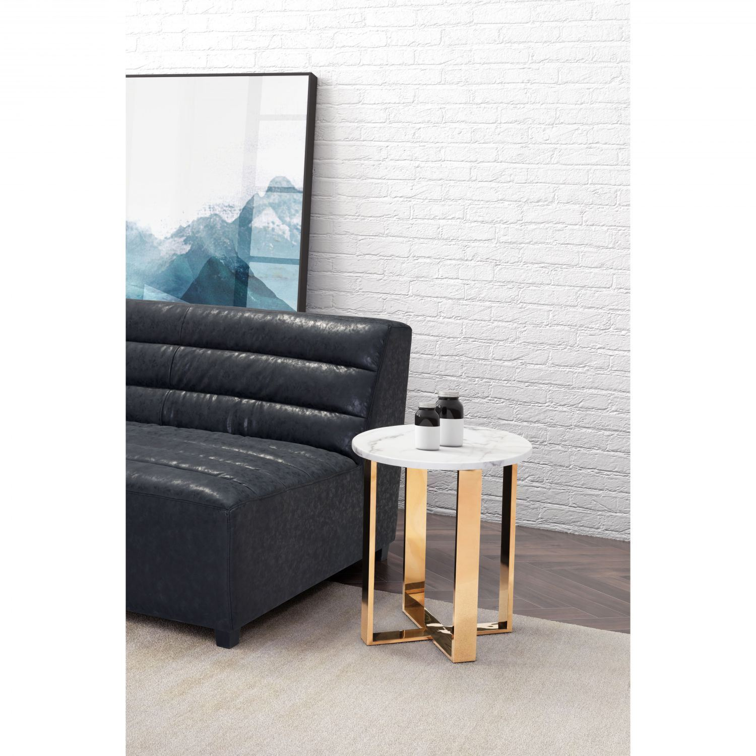 Picture of Atlas End Table Stone & Gold *D