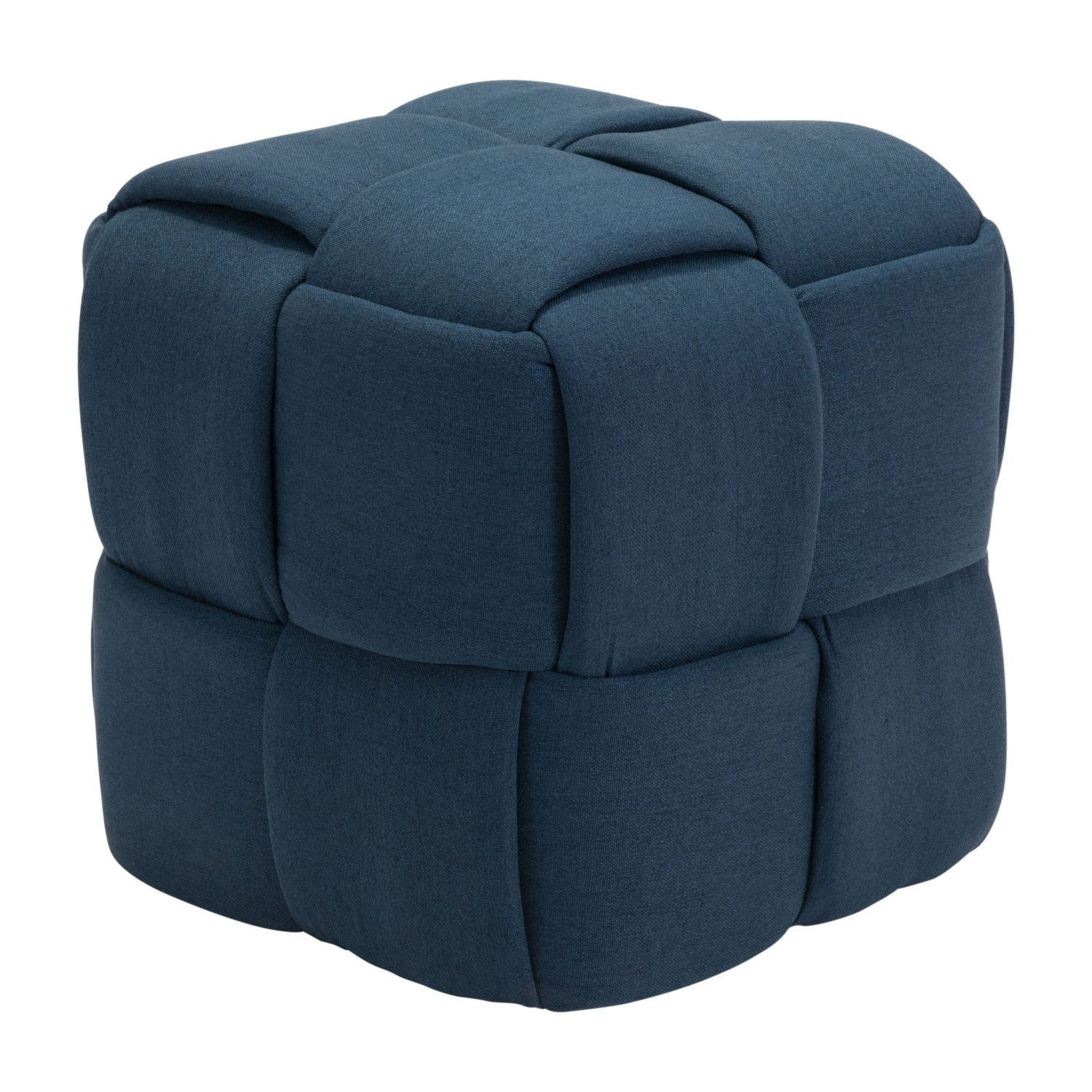 Picture of Checks Stool Navy Blue *D