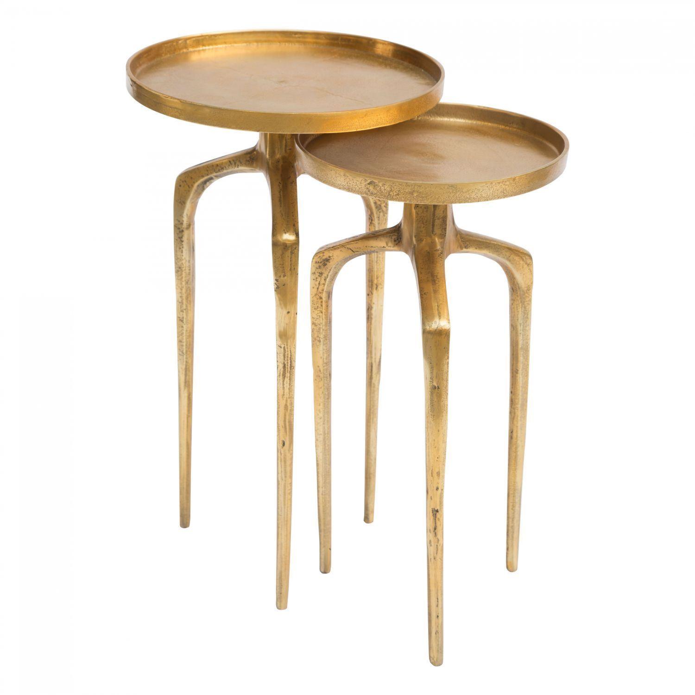 Picture of Como Accent Table Set Antique Gold *D