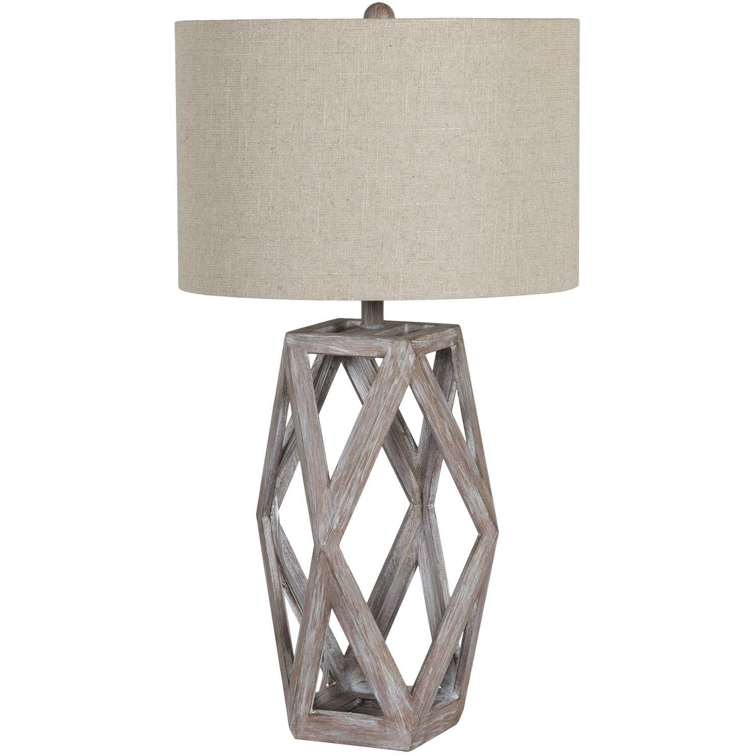 Picture of Wooden open base table lamp