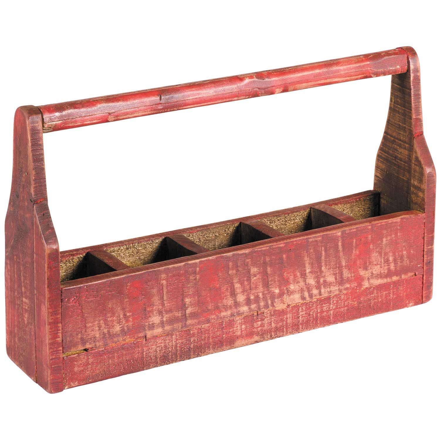 Picture of Compartment Box With Handle Red