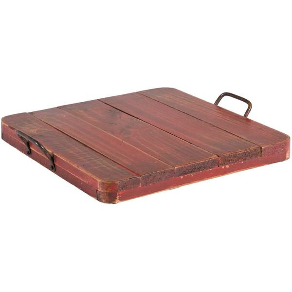 Picture of Vintage Tray With Handles, Red