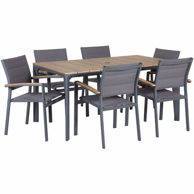 Picture of Carbon Oak 7 Piece Patio Dining Set