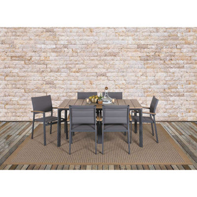 Picture of Carbon Oak Patio Dining Table