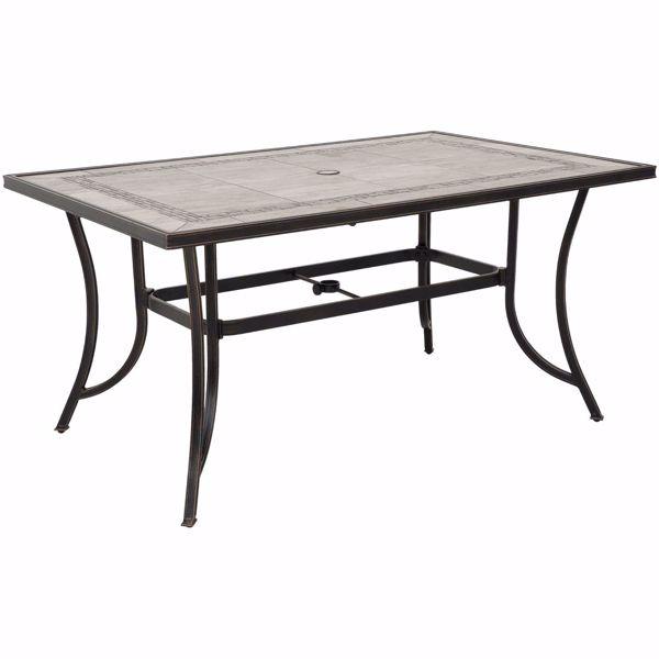 Barnwood 59 Tile Top Patio Table T