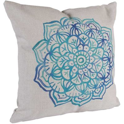 Picture of Blue Medallion 18x18 Pillow