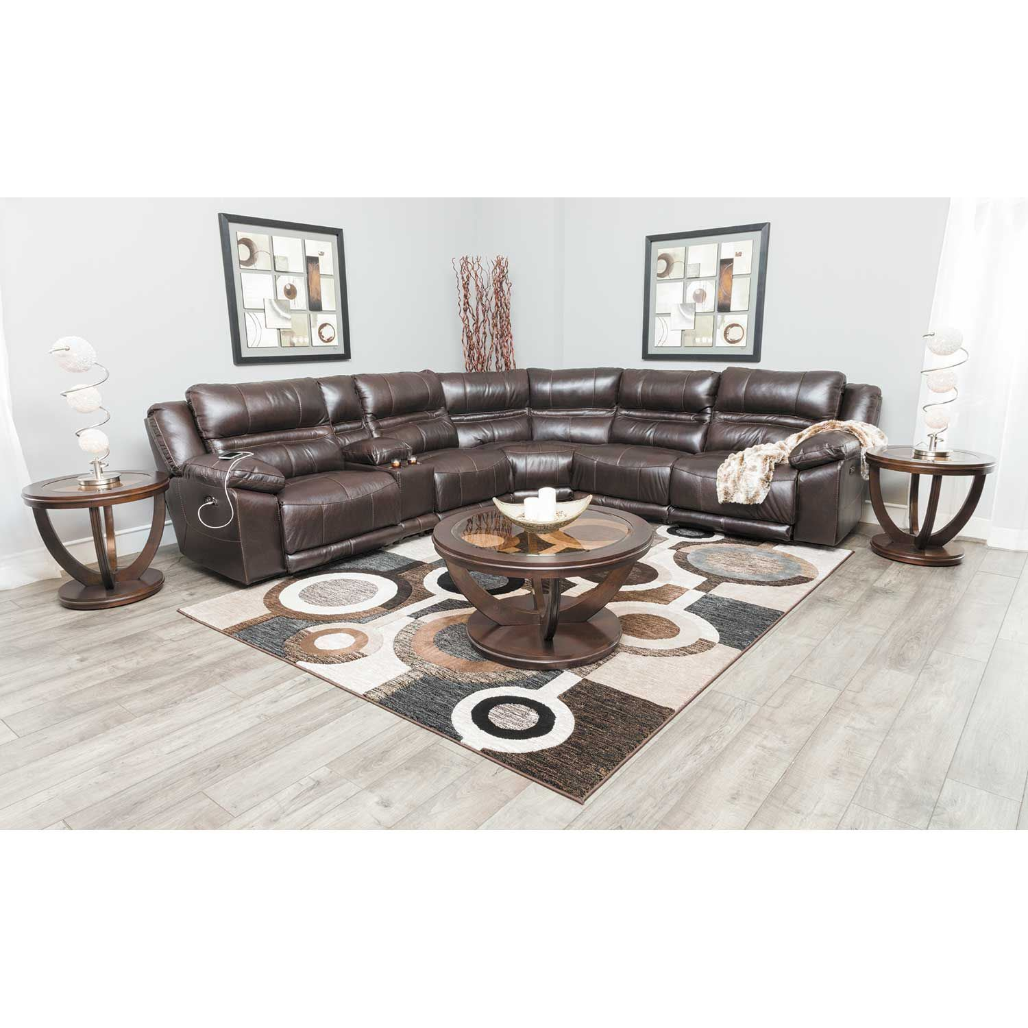Picture of Bergamo 6 Piece Power Reclining Sectional with Adjustable Headrest