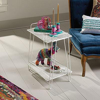 Picture of Eden Rue Accent TableWhite * D