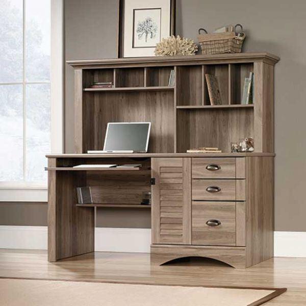 Picture of Sauder Harbor View Computer Desk w/Hutch