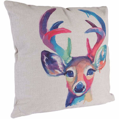 Picture of Watercolor Deer 18x18 Pillow