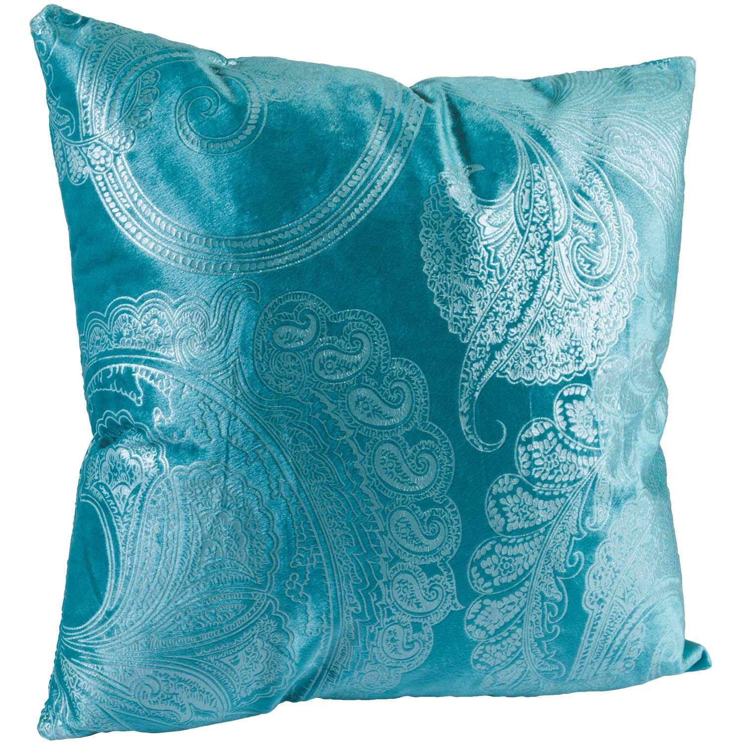 Picture of Teal Paisley 18x18 Decorative Pillow*P
