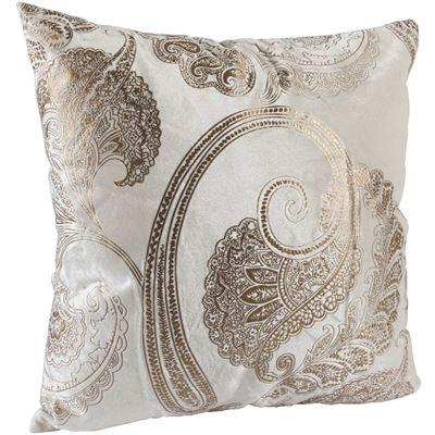 Picture of Bronze Paisley 18x18 Pillow