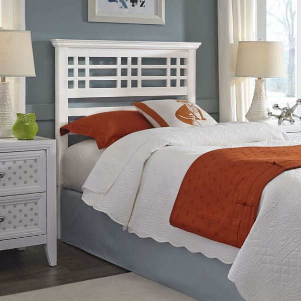 Avery Wooden Twin Headboard With White