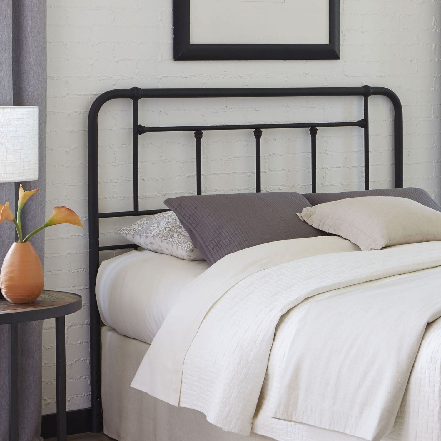 Baldwin Metal Full Headboard With Black